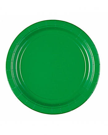 Grüne Pappteller
