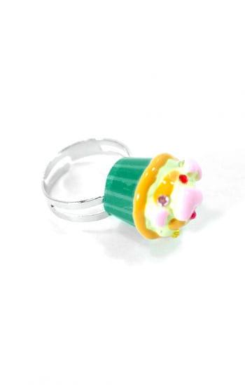 Törtchen Ring Grün Gelb