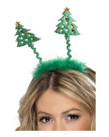 Weihnachtshaarreif mit Tannenbäumen