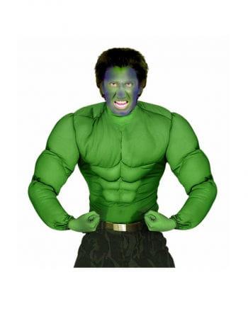 Grünes Monstershirt mit Muskeln