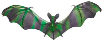 Hanging bat black / green