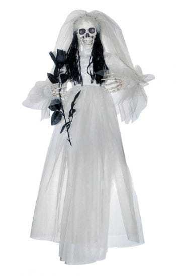 Skeleton Bride with Rose Hanging Prop