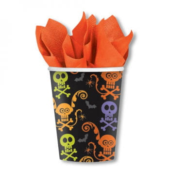 Dead Skull Cups with many colors 8 pcs.