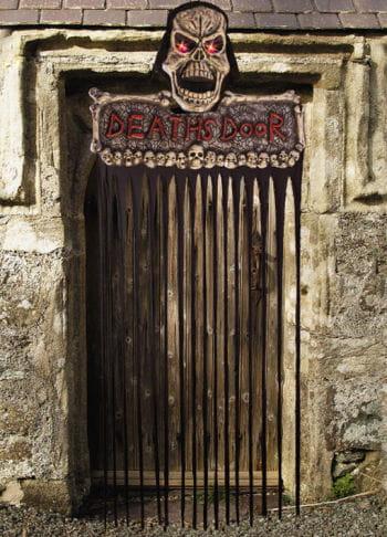Halloween Türschild Deaths Door LED