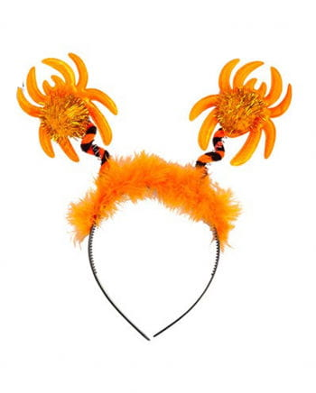 Headband orange spider