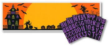 Halloween Banner mit Buchstaben
