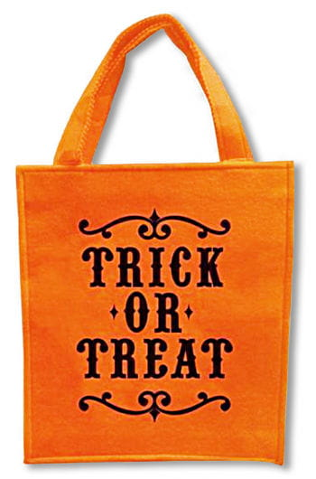 Halloween Felt Bag Orange