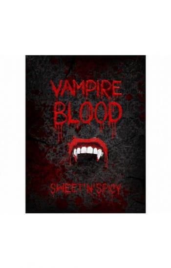 Flaschenetiketten mit Vampirmotiv