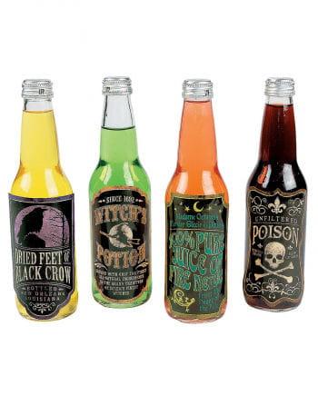 Gruselige Getränkeflaschen Etiketten