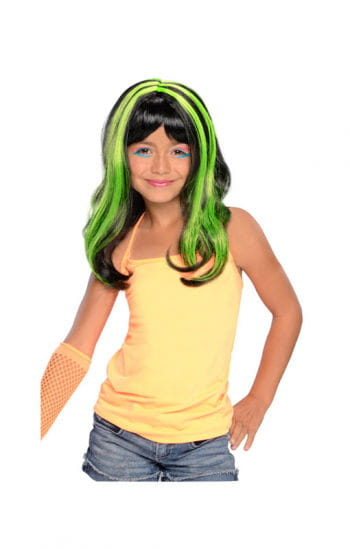 Halloween Child Wig neon / green