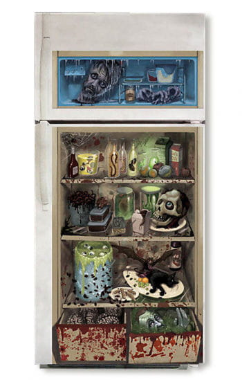 Zombie Kühlschrank Deko