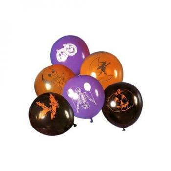 Luftballons Happy Halloween 8 St. sortiert