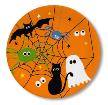 Halloween Paper Plates with Cobweb 8 PCS