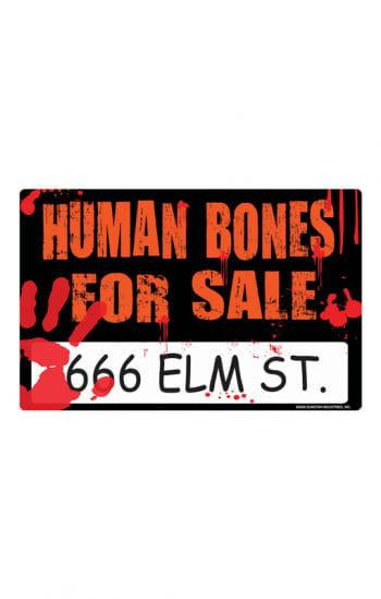"Morbides Halloween Schild "" Human Bones"""