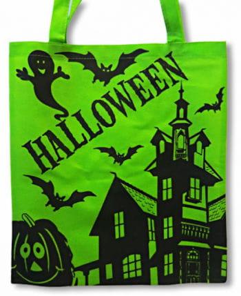 Grüne Halloween Stofftasche