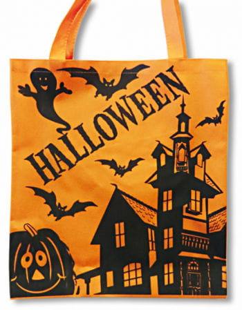 orange Halloween Stofftasche