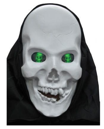 Totenkopf Maske mit Hologram Augen