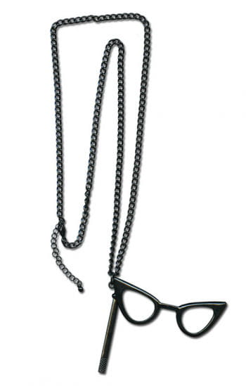 Necklace with Cat Eye Glasses