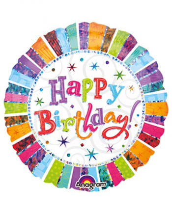 Happy Birthday Folienballon