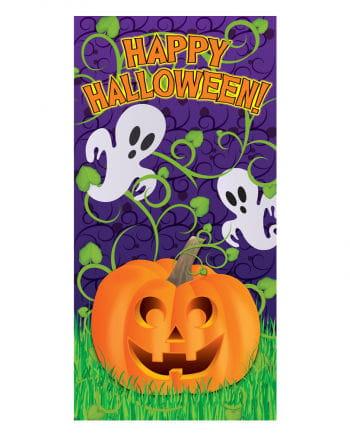 Happy Halloween Ghost & Pumpkin door foil