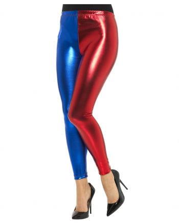 Harlekin Kostümleggings rot/blau