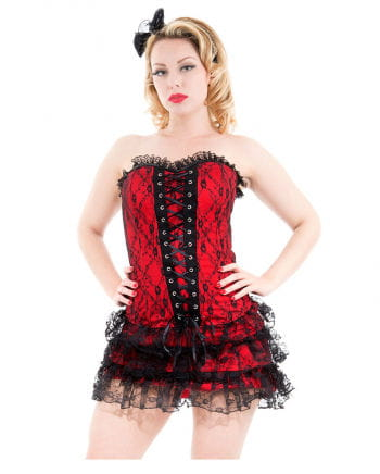 Gothic Corset with lace red
