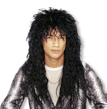 Heavy Metal Wig Black