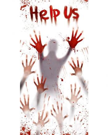 Blutige Hände Türfolie