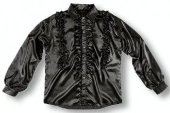 Ruffle Shirt Black