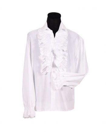 Weißes Herren Rüschenhemd