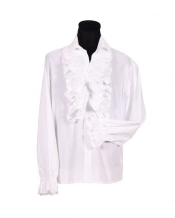 Herren Rüschenhemd weiß XL