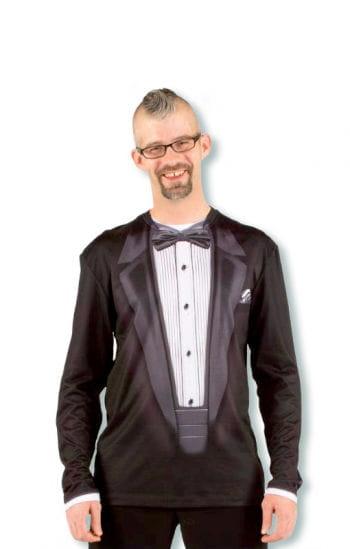 Gentleman Shirt mit Anzug Aufdruck