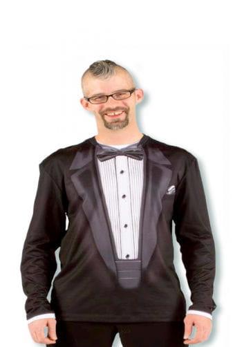 Gentleman Shirt mit Anzug Aufdruck XL