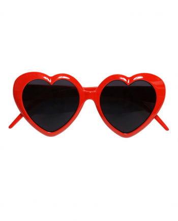 Rote Herz Sonnenbrille