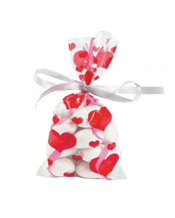 Cellophane bags Hearts 24 St.