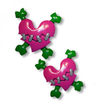 Heart hair bands pink