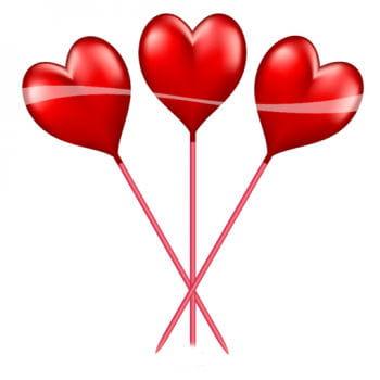 10 Heart Picker red