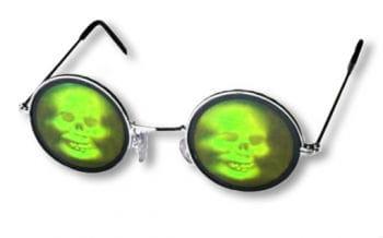 Totenkopf Hologramm Brille