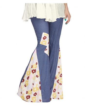 60s Groovy Jeans Blumen Schlaghose