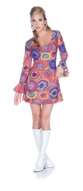 Hippie Minikleid Psychedelic XL