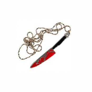 Horror Necklace bloody knife