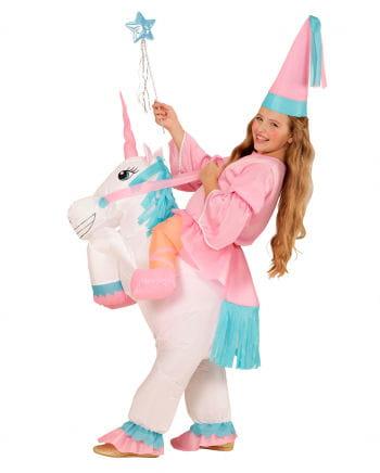 Aufblasbares Einhorn Kostüm für Mädchen