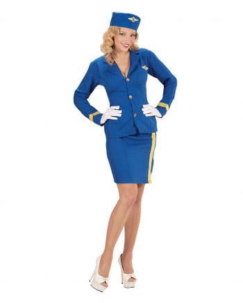 Kostüm Stewardess mit Mütze