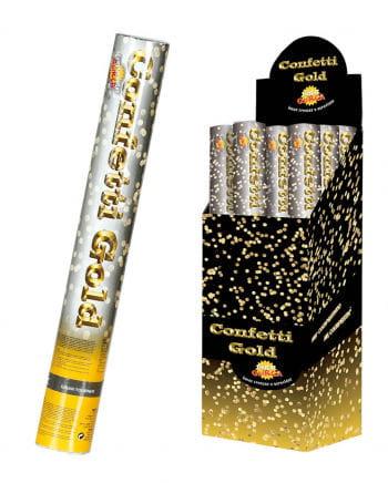 Golden confetti cannon