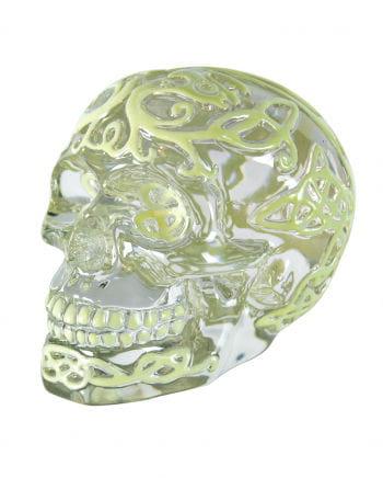 Nachtleuchtender Totenschädel im Kristall-Look