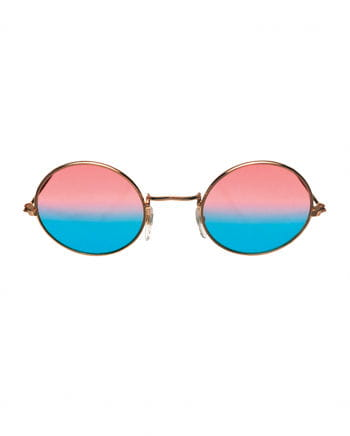70s Hippie Glasses Pink / Blue
