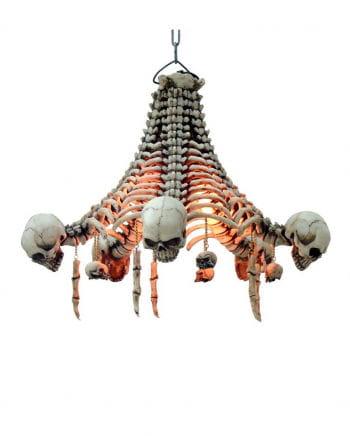 Totenkopf Deckenlampe mit Knochen