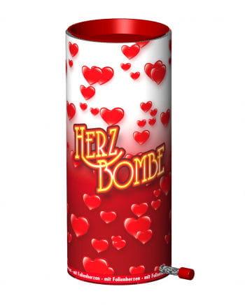 Tischbombe mit Herzen