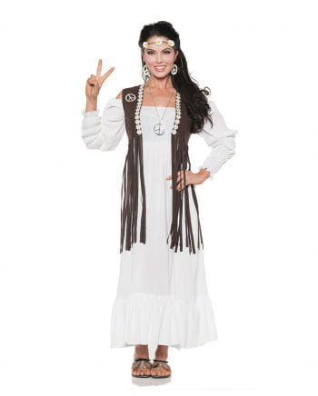 Hippie dress with fringed vest