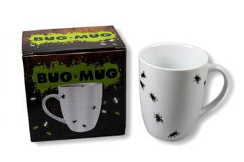 Kaffeetasse mit Fliegen